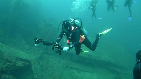 White Balance on Bianca C 36 meters depth