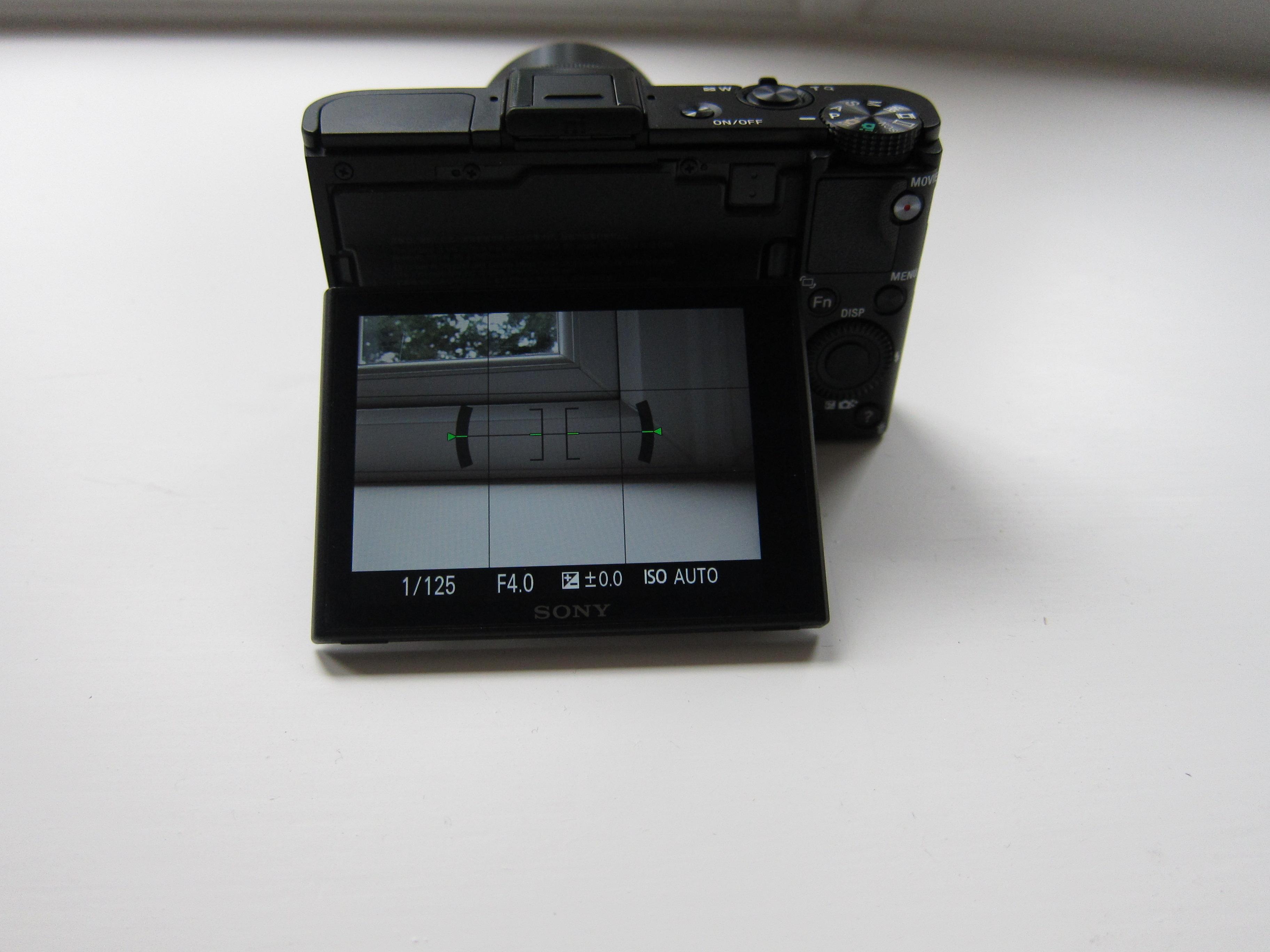 RX100M2 tilt screen