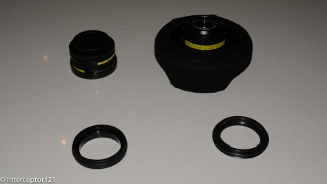 Two UCL-165AD, UWL-100 28AD with dome, 28AD->ADF adapter, M67-28ADF adapter