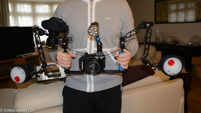 The 5.5 Kg rig in hand
