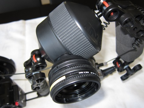 AD lens holder with AD-28AD adapter and UCL-165AD lens