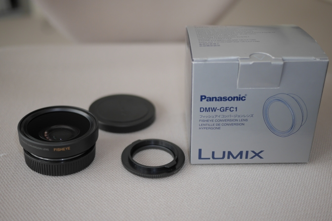 Panasonic Lumix G X Vario 14-42mm with Fisheye Converter DMW-GFC1