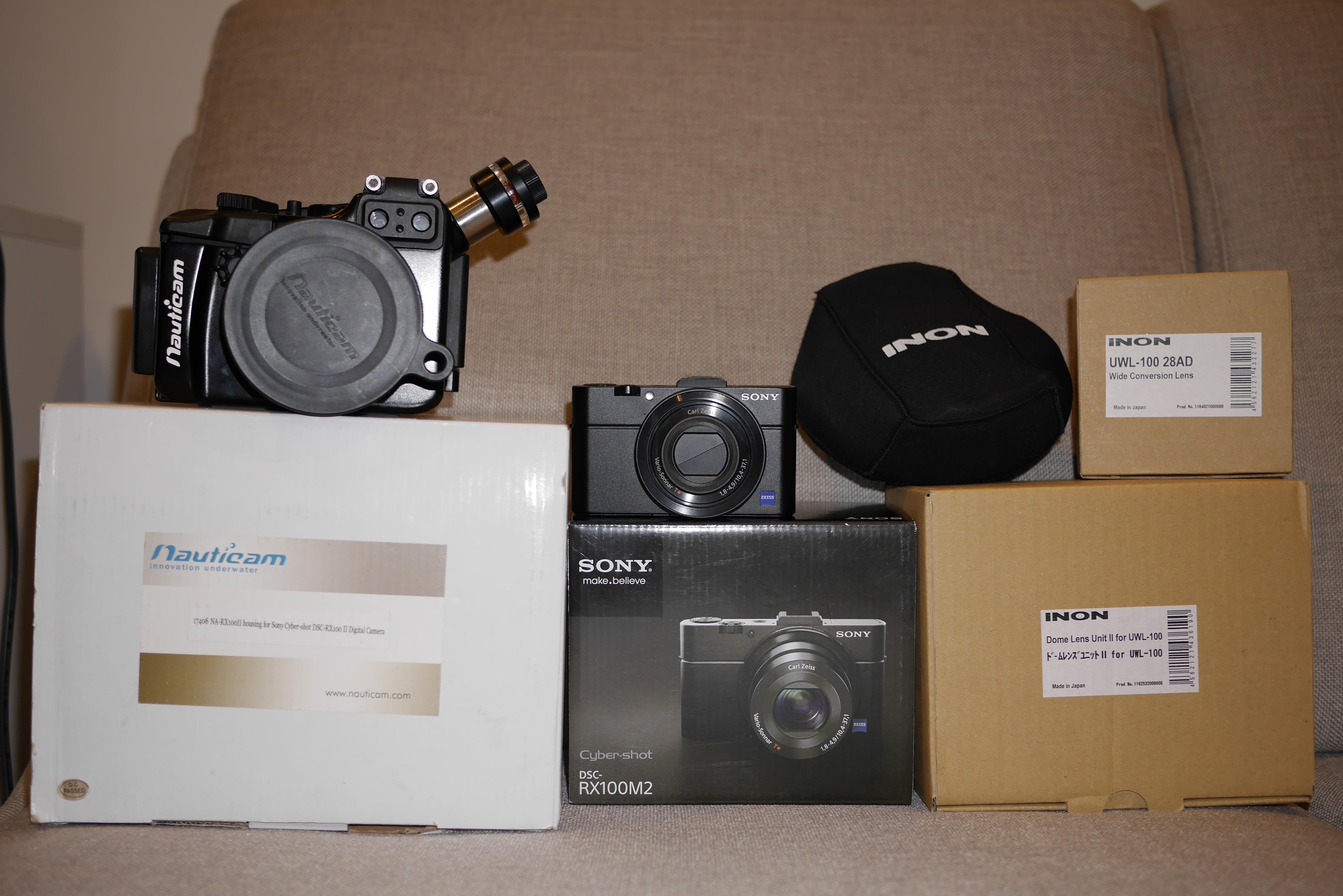 Sony RX100 Mark II with Inon UWL-100 28AD + Dome